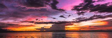 Zonsondergang in de Filipijnen van Duane Wemmers