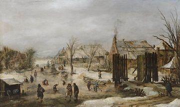 Dorf im Winter, Jan van de Velde der Jüngere