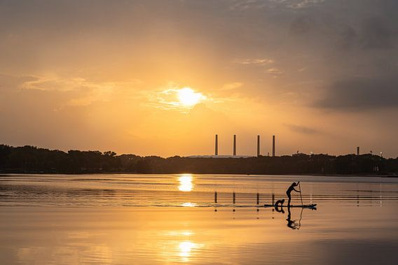 gouden zonsondergang aan de Allersee