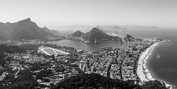 Rio de Janeiro (Schwarz-Weiß) von Merijn Geurts