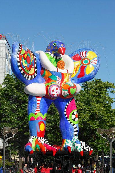 Lifesaver, Brunnenskulptur von Niki de Saint Phalle und Jean Tinguely, Duisburg, Ruhrgebiet, Nordrhe von Torsten Krüger