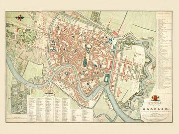 Karte Haarlem - 1829