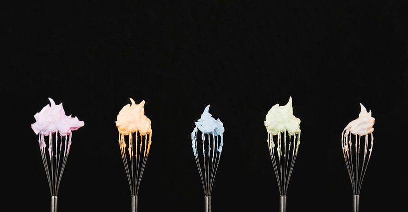 Gardes met meringue schuim, whipcream van Corrine Ponsen