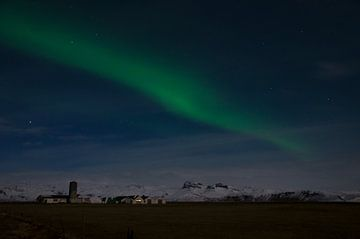 Noorderlicht in IJsland van Hans Peter Debets