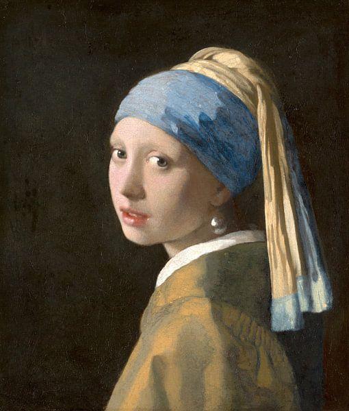 Das Mädchen mit dem Perlenohrgehänge - Vermeer Gemälde von Schilderijen Nu