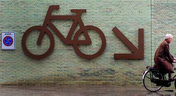 Op weg naar de fietsenkelder. van Maerten Prins