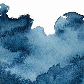 Lass den Ozean herein | Aquarellmalerei von WatercolorWall