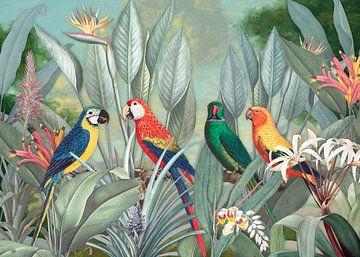 Birds in Paradise - 3D sur Marja van den Hurk