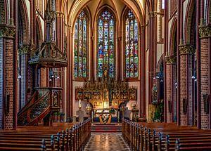 Interieur van de Sint- Pauluskerk in Vaals