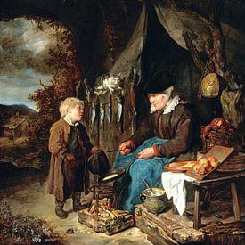 Gabriel Metsu - De Pannenkoek Baker van 1000 Schilderijen
