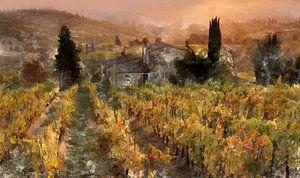 Toskanische Landschaft von Lutz Roland Lehn