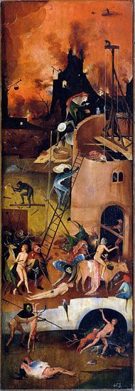 Jheronimus Bosch. De Hooiwagen, rechterpaneel van 1000 Schilderijen