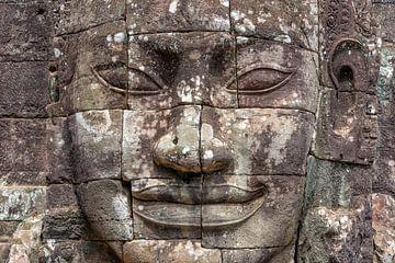 Boeddha beeld in  Bayon tempel, Angkor Wat van