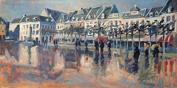 De Vrijthof Maastricht nach einem Regenschauer von Nop Briex