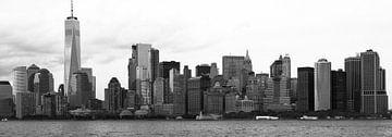 Skyline van Manhattan, New York City von Hans Wijnveen