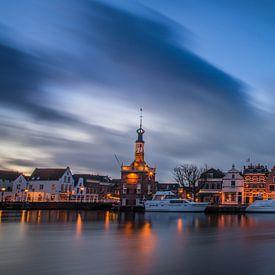 Coucher de soleil sur Alkmaar, la tour d'accise et Bierkade 03 sur Arjen Schippers