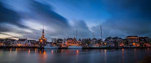 Zonsondergang over Alkmaar, Accijnstoren en Bierkade 03