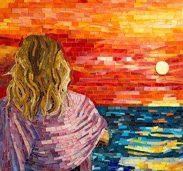 Coucher de soleil en Méditerranée sur Adriana Zoon