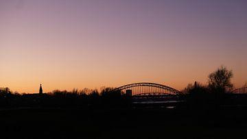 Skyline Nijmegen, Ooijpolder, Nijmegen, Nederland van themovingcloudsphotography