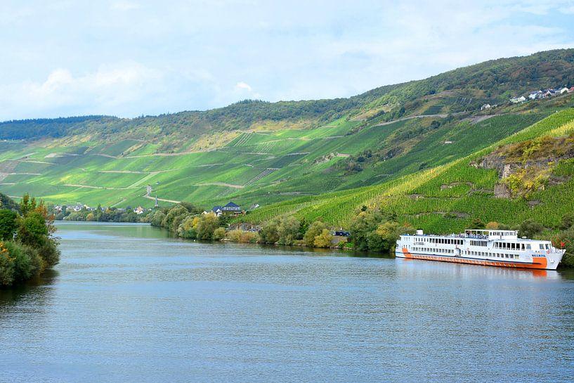 The Moselle in Bernkastel-Kues van Gisela Scheffbuch