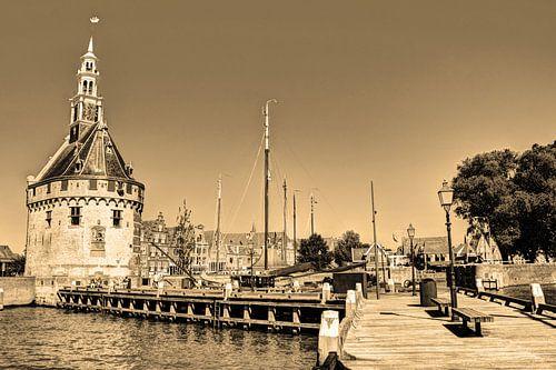 Hoorn Noord-Holland Nederland Haven Sepia
