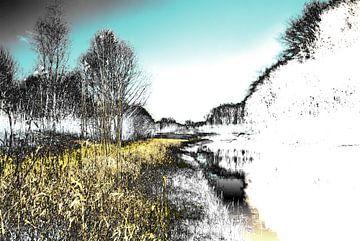 Gestoord Landschap #010 van Peter Baak