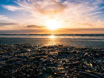 Zonsondergang met schelpen von Nathalie Treep