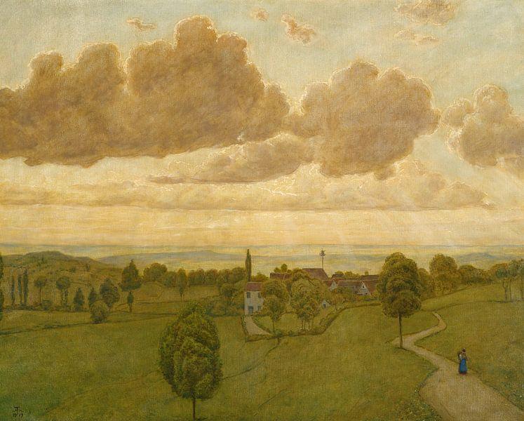 Hans Thoma~Sonnenuntergang von finemasterpiece