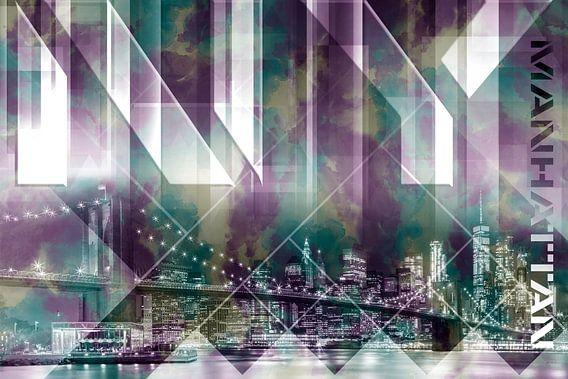 Modern Art BROOKLYN BRIDGE & SKYLINE
