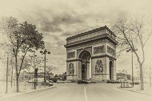 Parijs - Arc de Triomphe (zwartwit)