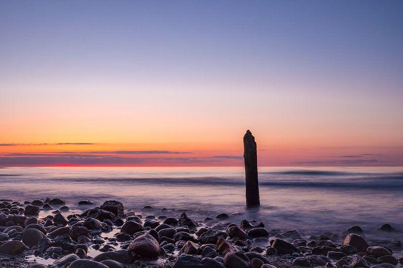 Buhnen an der Küste der Ostsee bei Kühlungsborn von Rico Ködder