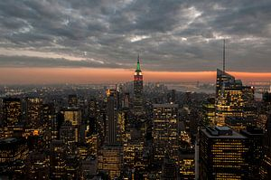 Empire state Building NYC  Skyline van Kristian Hoekman