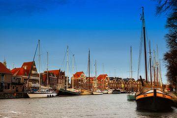 Hoorn's havenzicht van Jan van der Knaap