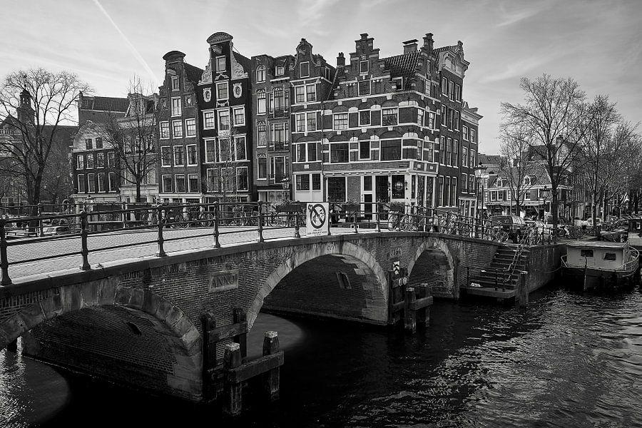 Papeneiland zwart wit van Martijn Verhagen