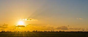 Zonsondergang Weesp Landschap van Robin Voorhamm