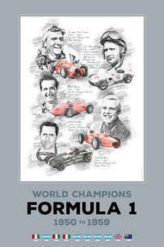 Formule 1-wereldkampioen van 1950 tot 1959 van Theodor Decker