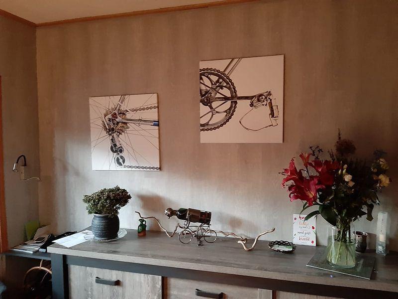 Kundenfoto: Bianchi Crankstel von Leon van Bon, auf leinwand