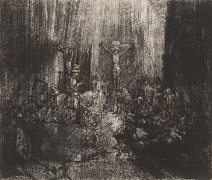 Die drei Kreuze, Rembrandt van Rijn von Rembrandt van Rijn
