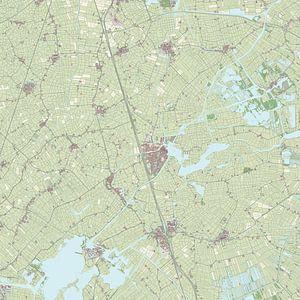 Kaart van Boarnsterhim van