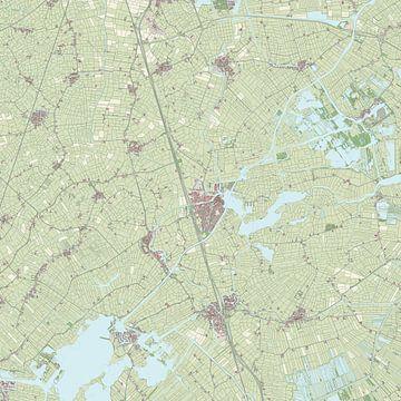 Kaart van Boarnsterhim