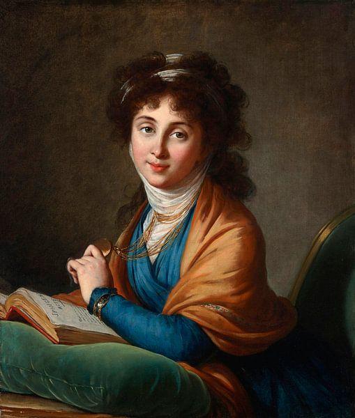 Porträt von Natalia Sacharowna Kolitschewa, geborene Hitrowo, Elisabeth Louise Vigée-Lebrun von Meesterlijcke Meesters