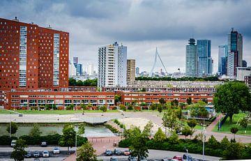 La ligne d'horizon de Rotterdam sur Annemarie van der Hilst