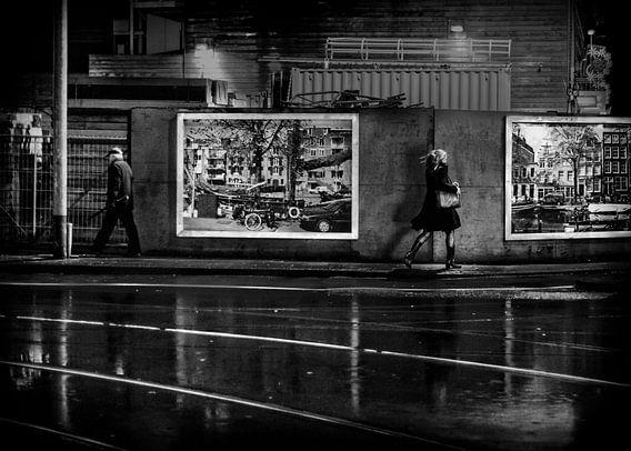"Avond Straatbeeld Ferdinand Bolstraat Amsterdam ""Sidewalk"""
