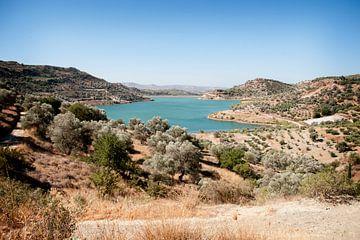 Stuwmeer op Kreta van Mariska Hanegraaf