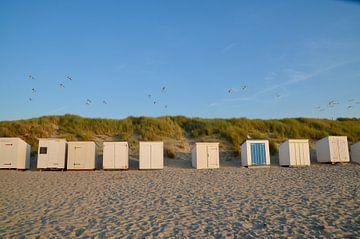 Strandhokjes op het strand Oostkapelle van Oostkapelle Fotografie