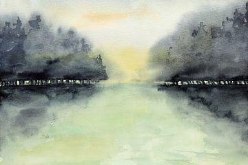 Bomen in de mist van Natalie Bruns