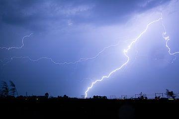 Un orage violent entre Zwolle et Nieuwleusen sur Stefan Verkerk