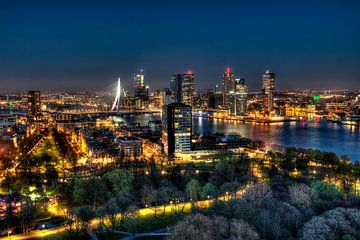 HDR Rotterdam skyline van W J Kok