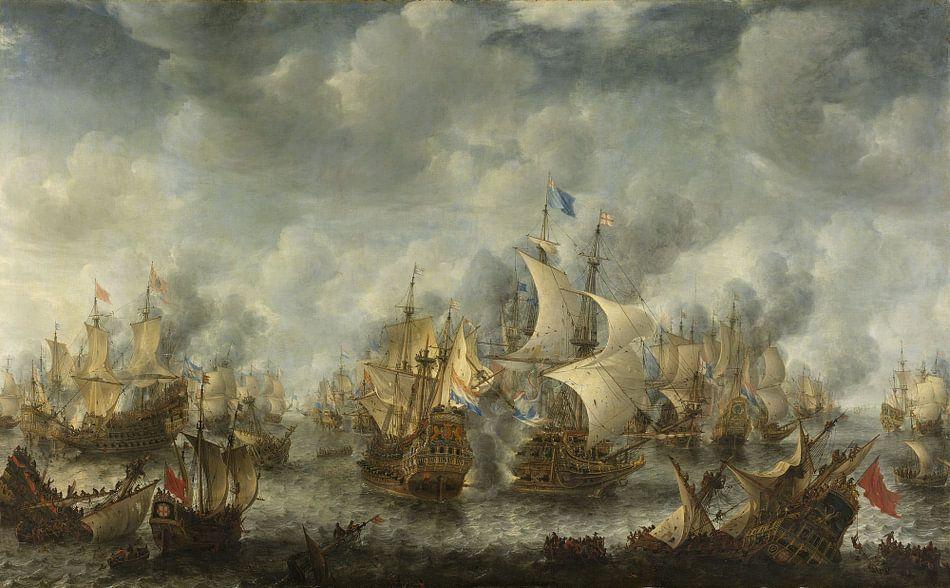 VOC Zeeslag schilderij: Slag bij Terheide, Jan Abrahamsz. Beerstraten, 1653 - 1666