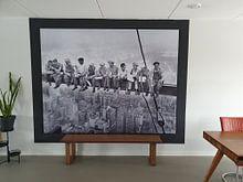 Klantfoto: Lunch atop a Skyscraper van Vintage Afbeeldingen, als print op doek